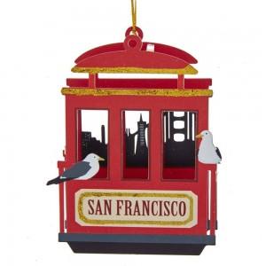 "5""Laser Cut-Out San Fran Cable Car"
