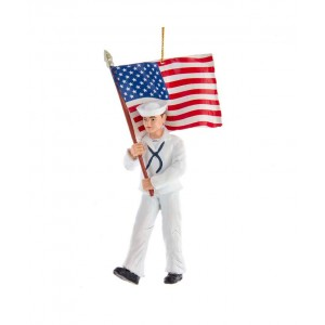 "5.75""Navy Sailor W/American Flag"