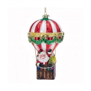 "5.5""Nobl Gems Santa Hot Air Balloon"