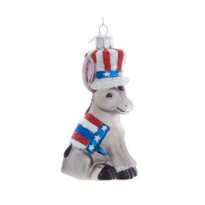 """4.5""""Noble Gems Political Donkey Orn"""