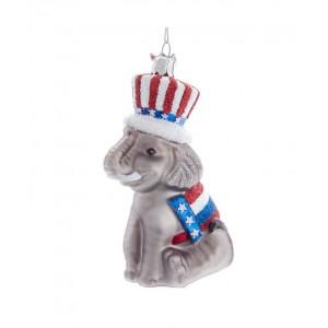 "4.5""Noble Gems Patriotic Elephant"