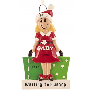 Mom To Be Personalize Christmas Ornament