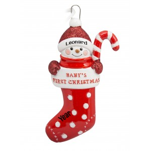 Stocking Baby Personalized Christmas Ornament