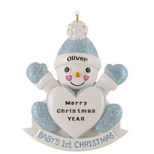 Snow Son Personalized Christmas Ornament