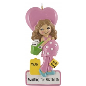 Mommy To Be Pink Personalized Christmas Ornament