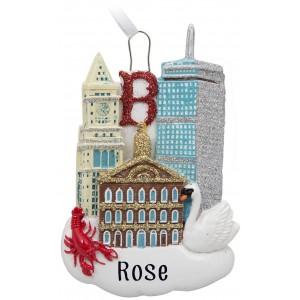 Boston City Escape Personalized Christmas Ornament