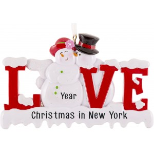Snowman Love Letter Personalized Christmas Ornament