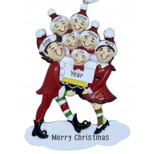 Elf Family 7 Personalization Ornament