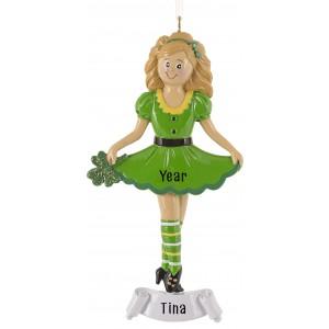 Irish Girl Personalized Christmas Ornament