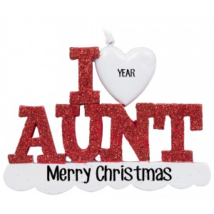 I Love My Aunt Personalized Christmas Ornament