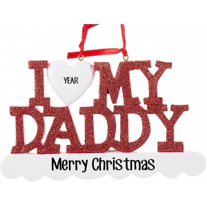 I Love My Daddy Personalized Christmas Ornament