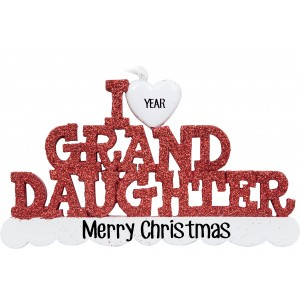 I Love My Granddaughter Personalized Christmas Ornament