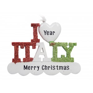 Italy Personalized Christmas Ornament