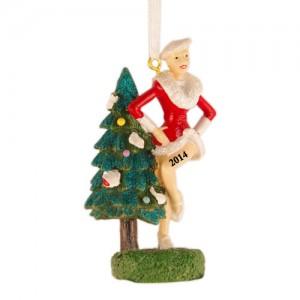 Santa Girl Personalized Christmas Ornament