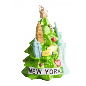 NY Icons Tree Glitter 3D Personalized Christmas Ornament