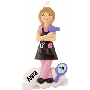 Hairdresser Girl Personalized Christmas Ornament