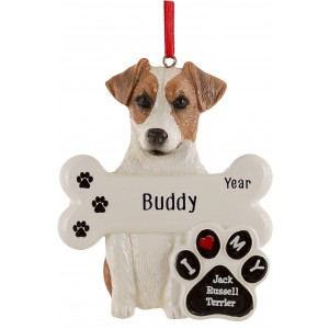 Jack Russell Terrier Dog Personalized Christmas Ornament