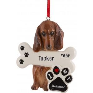 Dachshund Dog Personalized Christmas Ornament