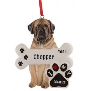 Mastiff Dog Personalized Christmas Ornament
