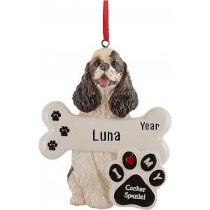 Cocker Spaniel Dog Personalized Christmas Ornament