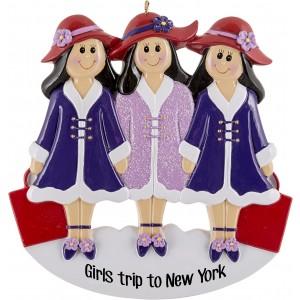 Girlfriends Purple W3 Personalized Christmas Ornament