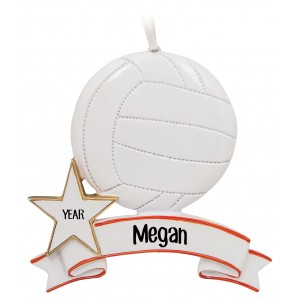 Volleyball Personalized Christmas Ornament