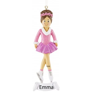 Ice Skate Girl Personalized Christmas Ornament