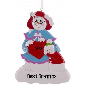 Snow Family Grandma Personalized Christmas Ornament
