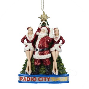 Santa Claus with the Rockettes at Radio City Music Hall Christmas Ornament