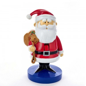"8.5""Rudolph Santa W/Sack Nutcracker"