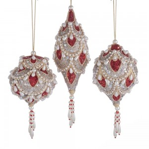 """5.5-6""""Ruby Platinum Hanging Orn 3/A"""