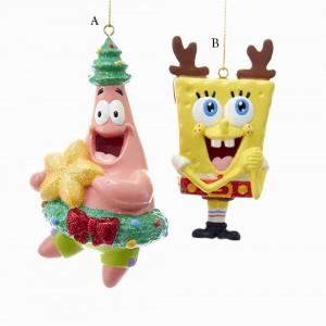 """3.5-4"""" Spongebob/Patrick Blow Mold Ornament"""