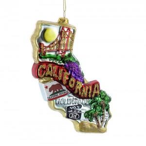 "6.5""Glass ""California"" Orn"