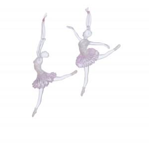 """5.25-5.75""""Clr/Pnk Ballerina Orn 2A"""