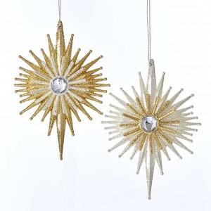 "5.5""Acrylic Silver/Gold Star Orn 2A"