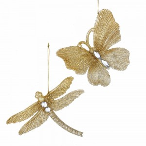 """4""""Butterfly/Dragonfly Gold Glttr 2A"""