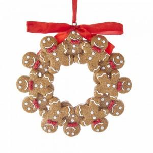 """4.75""""Gingerbread Boy Wreath Orn"""