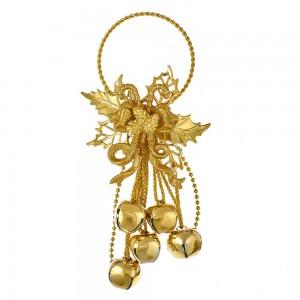 "10""Metal Gold Bells Orn"