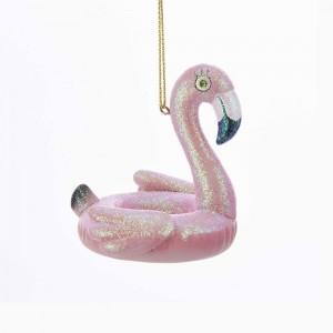 "2.75""Pink Flamingo Pool Float Orn"