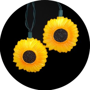 Yellow Sunflower Novelty Christmas Light
