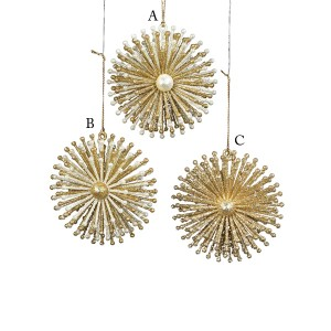 Acrylic Gold or Silver Burst Snowflake Ornament