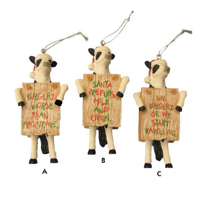 Chick-Fil-A Cow Funny Saying Christmas Ornament, CK2101 ...