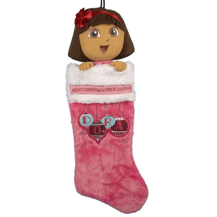 Dora the Explorer Dora Plush Head Stocking Christmas and City