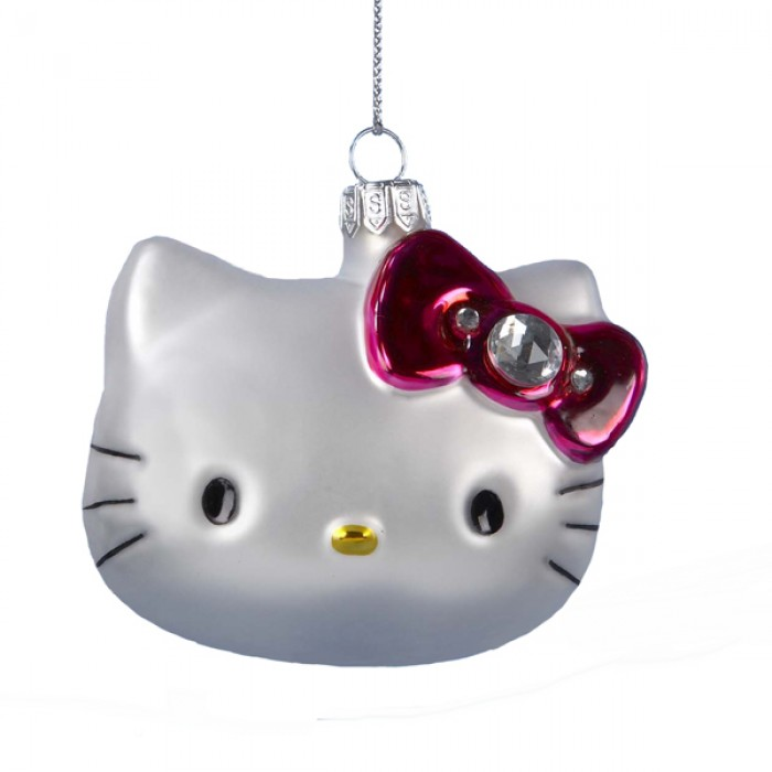 Hello kitty glass head ornament christmas and city