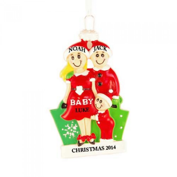 Expecting Family Personalized Christmas Ornament - Christmas and City