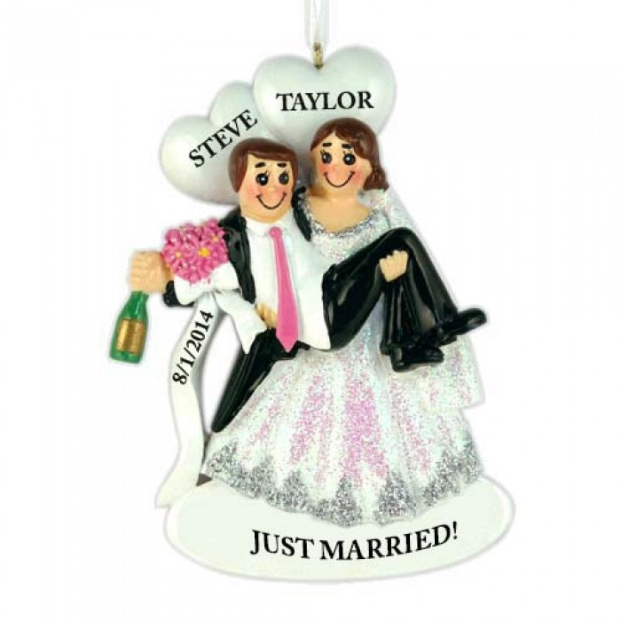 Happy Hour Wedding Couple Personalized Christmas Ornament ...