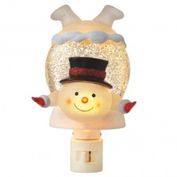 Snowman In Snowdrift Shimmer Night Light
