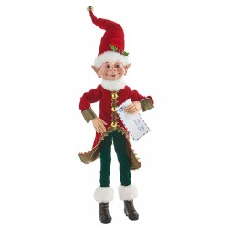 "Image of 18"" Posable Elf with Letter"