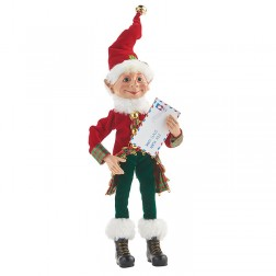 "Image of 12"" Posable Elf with Letter"