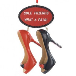 4.25'' What a pair!  Shoe Ornament